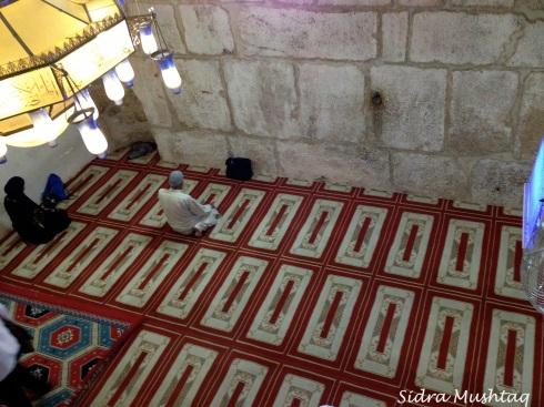 Inside Masjid al-Buraq