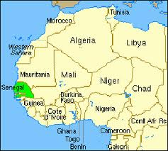 Map Of Africa Senegal.Map Of Senegal West Africa Map Of Africa