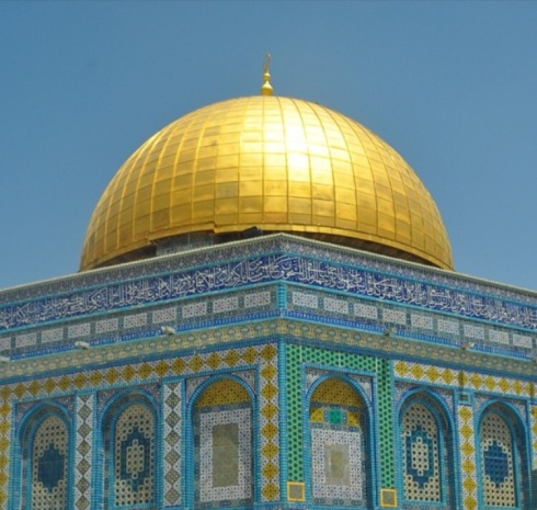 The Dome of the Rock Mosque, Jerusalem, 2013. Photo taken with  A SLR by Sidra Mushtaq