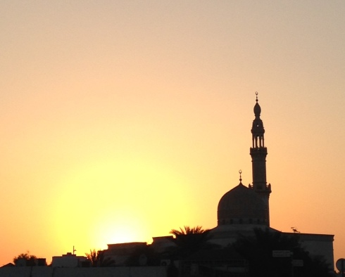 Sunrise in Dubai. November 2014. Photo taken using an iPhone 6 by Sidra Mushtaq